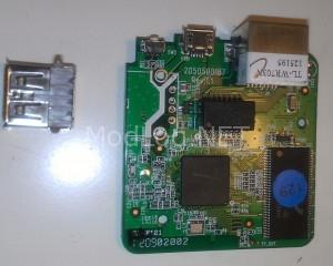 De-solder USB port
